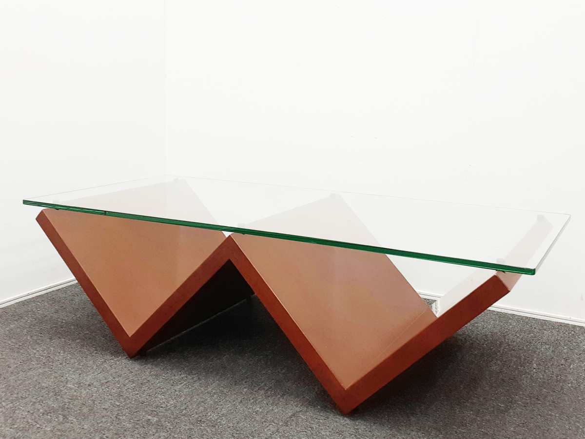 Arflex アルフレックス センターテーブル MONTAGNA モンターニャ ガラスリビングテーブル