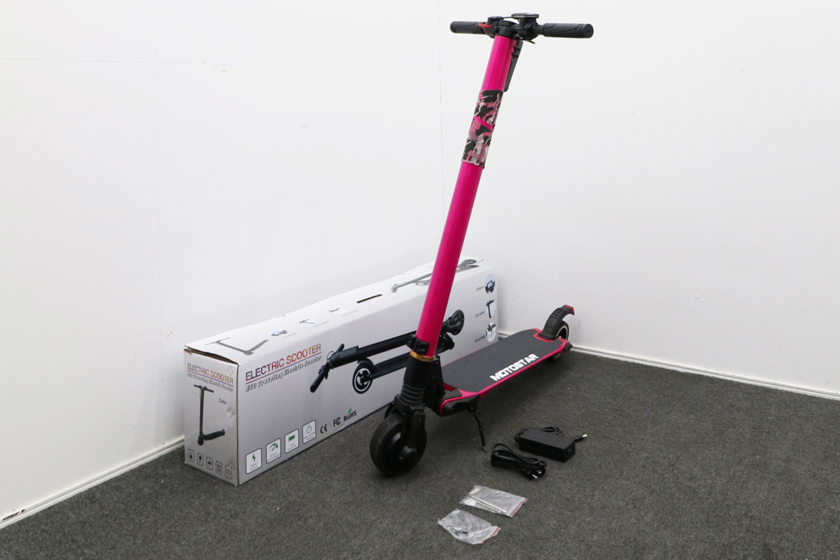 MOTOSTAR モトスター ELECTRIC SCOOTER 電動キックボード 外箱有 3段変速 時速24kmh
